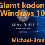 Glemt bruger kode til Windows 10?