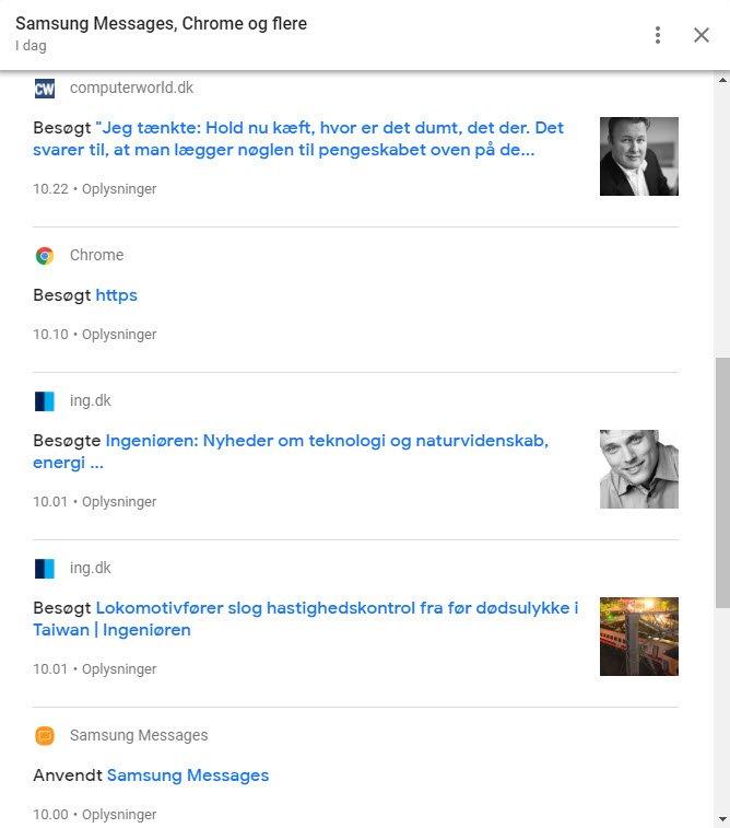 Hvad ved Google om mig? Besøg i dag