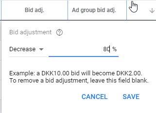 Google Ads Displaynetværk budjusteringer på enheder