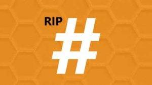 Hashtags er døde, længe leve hastags