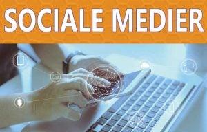 Sociale medier med Facebook, LinkedIn, Google+, Twitter, Instagram, Pinterest og alle de andre