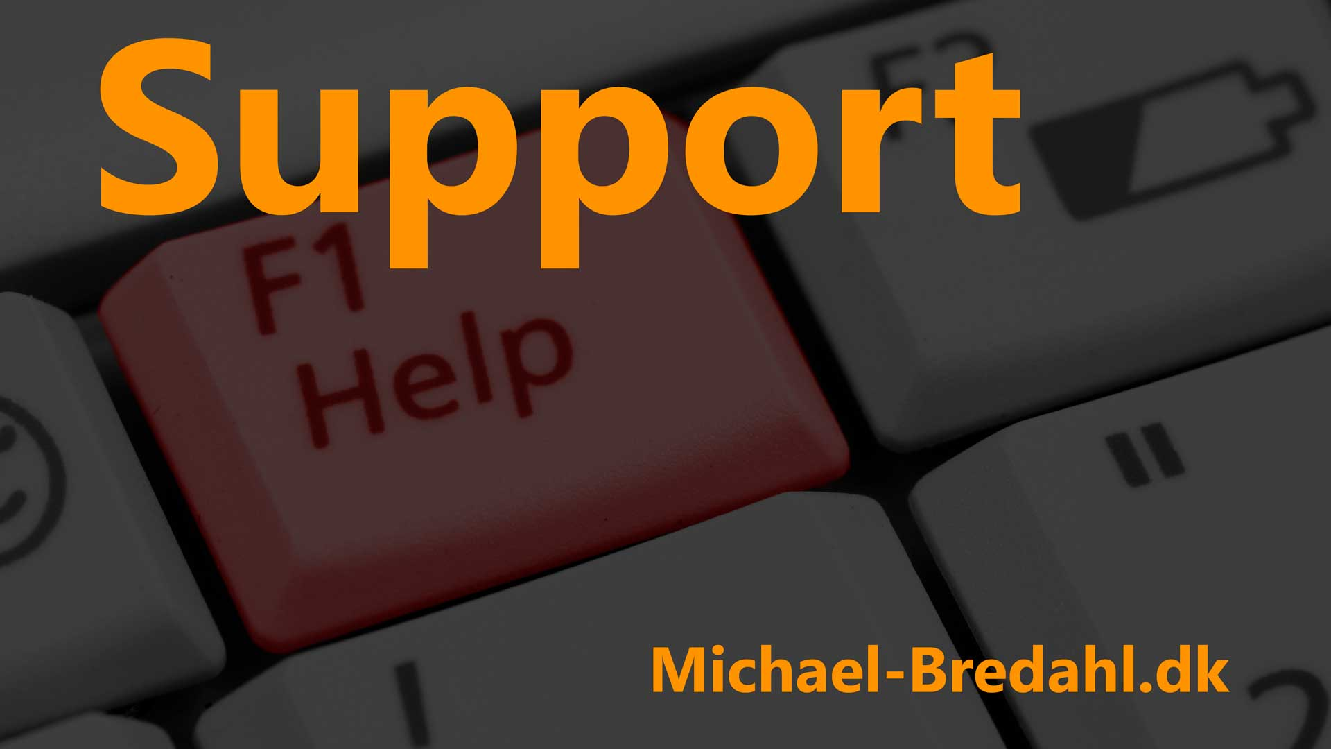 Support med Michael Bredahl