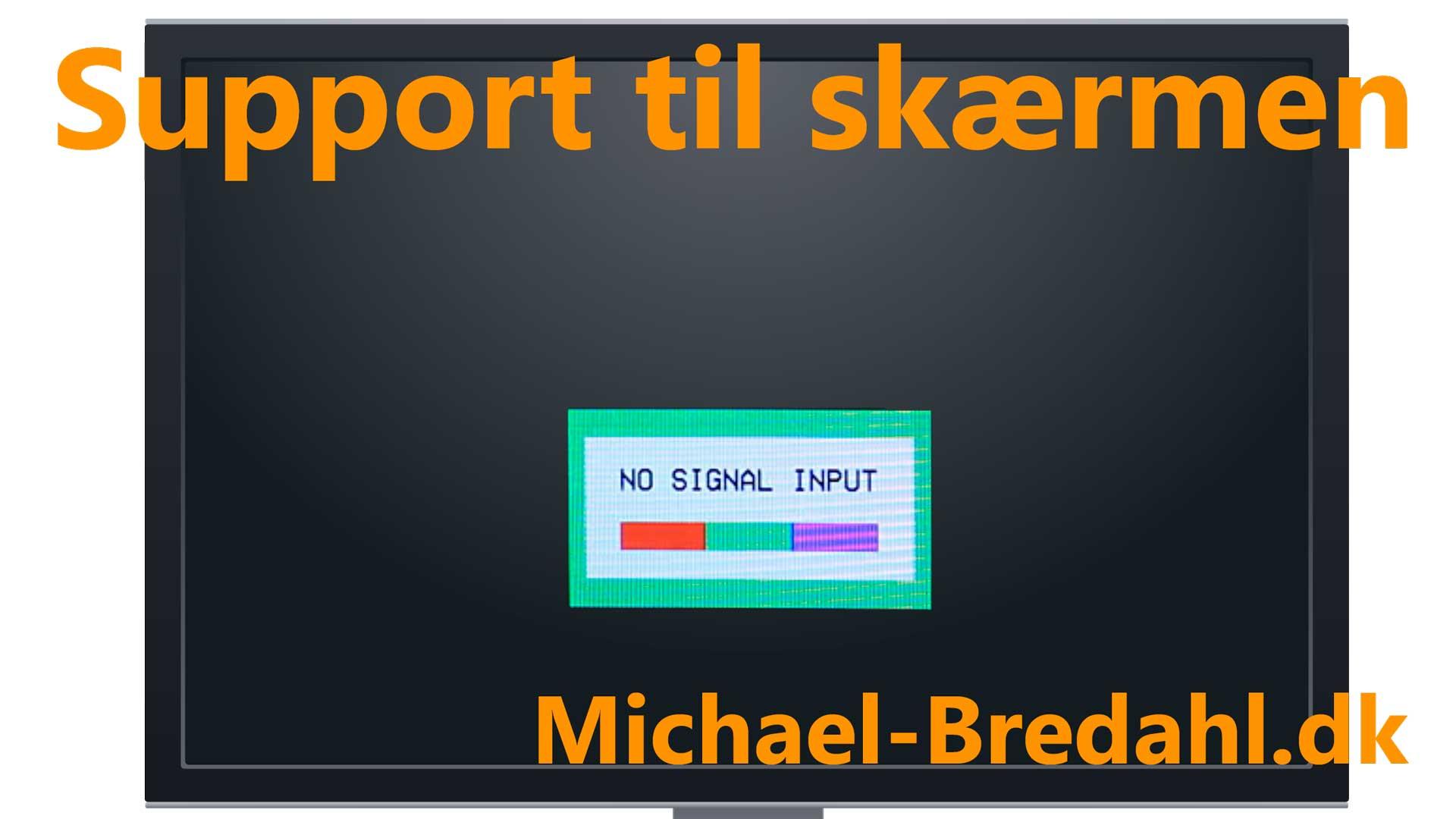 Support til skærm